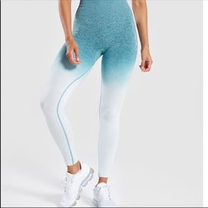Gymshark blue ombré leggings small